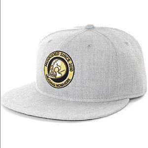 NWOT Brash Heather Grey Snapback Hat
